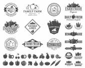 Fruits and Vegetables Logos Labels Fruits and Vegetables Icons