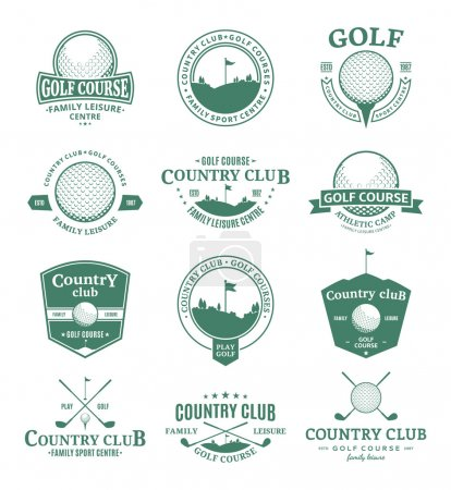 Golf country club logo, labels and design elements