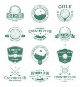 Golf country club logo labels and design elements