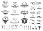 Golf country club logo labels icons and design elements