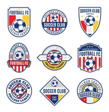Set of Soccer Football Club Logo