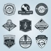 Set of Vector Music Logo Icons and Design Elements