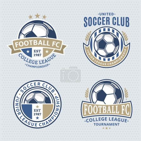 Set of Soccer Football Club Logo