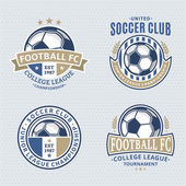 Set of soccer football club logo templates Soccer football labels with sample text Soccer Football icons for sport tournaments and organizations Sport team identity