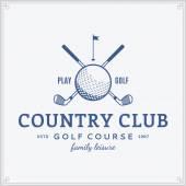 Golf country club logo template