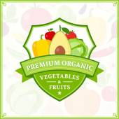 Fruits and Vegetables Logo Fruits and Vegetables Icons and Design Elements