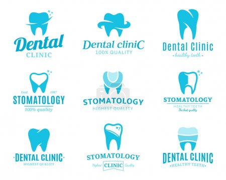Dental Clinic Logo, Icons and Design Elements