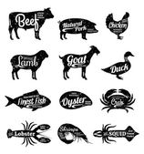 Butcher Shop and Seafood Shop Labels