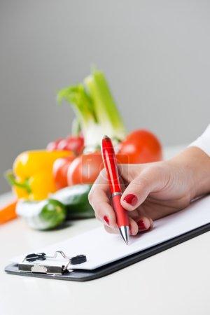 Nutritionist's desk