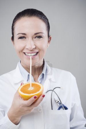 Healthy natural orange juice