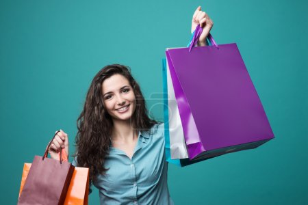 Cute young woman shopping