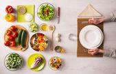 Zdravé vegetariánské jídlo