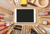 Digitální tablet s Diy nástroje