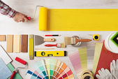 Painting and decorating DIY banner
