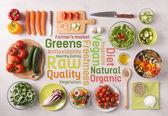 """Постер, картина, фотообои """"Здорового питания и приготовления пищи в домашних условиях"""""""