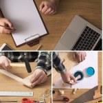 Постер, плакат: DIY and carpentry collage