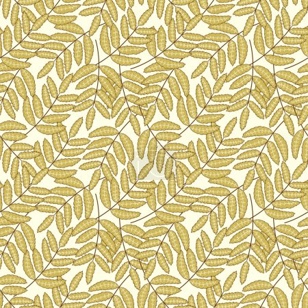 Pattern with decorative leaves
