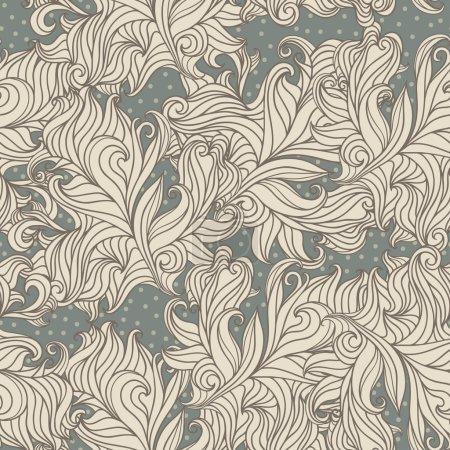 Floral wavelike pattern.