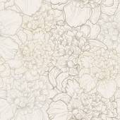 Vector seamless floral pattern with beautiful peony Delicate background with pastel colors Seamless pattern