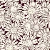 Seamless daisies pattern