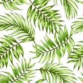 Seamless exotic pattern with tropical leaves  Vector illustration Vector illustration