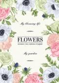 Virágos háttér, pasztell színek