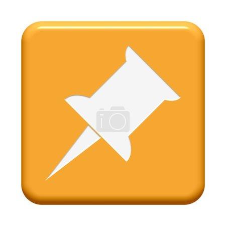 Photo pour Un bouton orange isolé montrant le symbole Mémoriser - image libre de droit