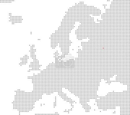 Photo pour Pixel Carte de l'Europe indiquant la position de la ville de Moscou - image libre de droit