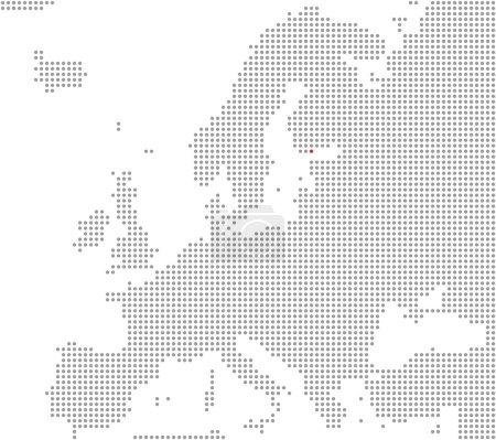 Photo pour Carte de Pixel de l'Europe affichant la position de la ville Helsinki - image libre de droit