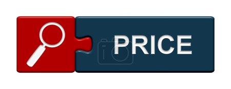 Photo pour Puzzle le bouton montrant le prix - image libre de droit