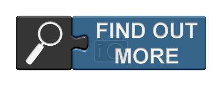 Photo pour Gris bleu bouton Puzzle montrant en savoir plus - image libre de droit