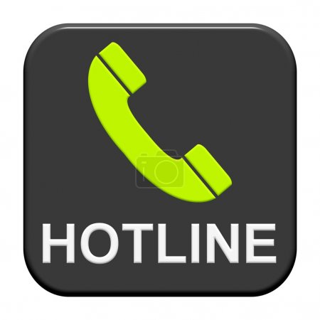 An isolated Button showing Hotline and telephone s...