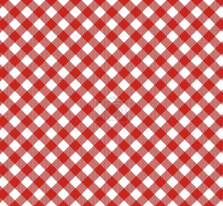 Diagonal Tablecloth Pattern red white