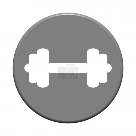 Round Button - Dumbbell