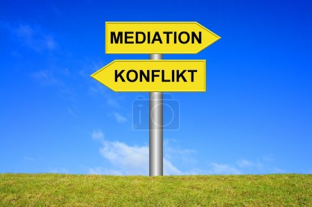Signpost - Mediation or Conflict