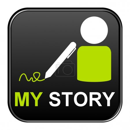 An isolated Button showing icon and my story