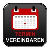 Černá tlačítko zobrazeno jmenování německé