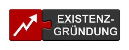 Puzzle Button showing business startup german