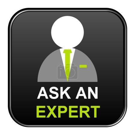 Black Button showing ask an expert