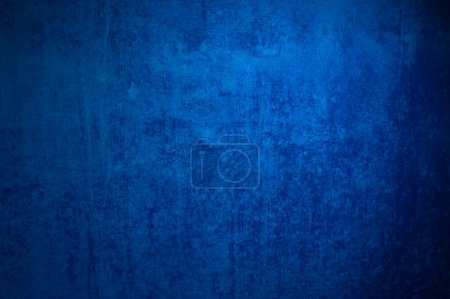 Photo for Cool dark blue grunge background of an old surface - Royalty Free Image