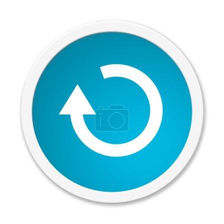 Photo pour Modern isolé bouton bleu avec le symbole indiquant la mise à jour - image libre de droit
