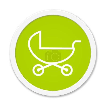 Rund Button showing stroller