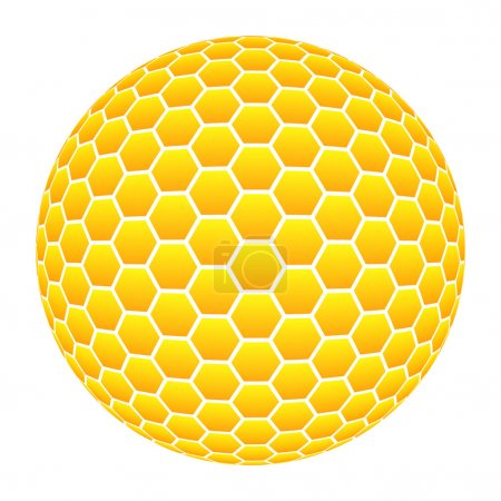 Photo pour 3D Ball avec motif en nid d'abeille orange - image libre de droit
