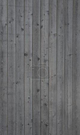 Photo pour Photo verticale d'un vieux fond mural en bois gris - image libre de droit