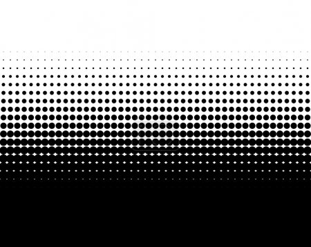 Photo for Transition of black dots on white background - Royalty Free Image