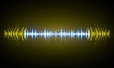 Illustration for Sound waves oscillating dark light - Royalty Free Image