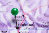 Huanuco pinned on a map of Peru
