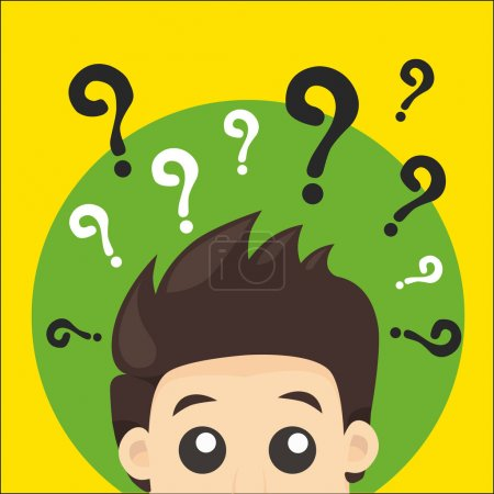 Illustration for Vector illustration question ma - Royalty Free Image