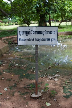 Mass Grave at killing fields, cambodia, phnom penh