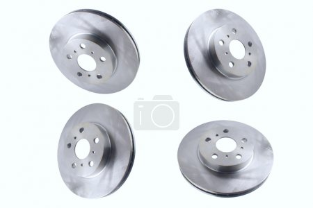Isolated on white background brake discs for front side car